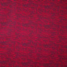 Donkerblauwe katoen met rode abstracte lijntjes