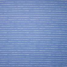 Blauwe tricot met lichtblauwe streepjes 'Crayon' van 'Cherry Picking'