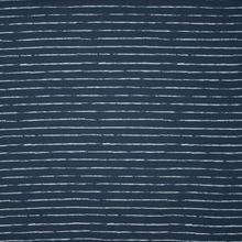 Donkerblauwe tricot met grijze streepjes 'Crayon' van 'Cherry Picking'