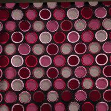 Bordeaux jacquard met bollen motief en glitter