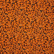 Oranje sweaterstof met panterprint van 'Poppy'