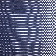 Viscose tricot blauw wit bolletjes motief