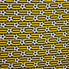 Geel-Zwart gestreept katoen voetbalprint