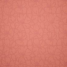 Oud roze jacquard tricot met bloemen motief
