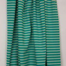Gestreepte tricot in groen en donker muntgroen