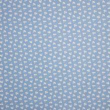 Blauwe katoen met blaadjesmotief