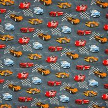 """blauwgrijze tricot met racewagens """"street race"""" van Poppy."""