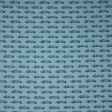 Blauwe tricot met auto motief