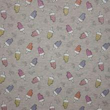 Grijze tricot met glitterend ijsjes motief