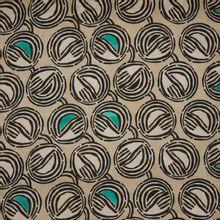 Safari beige linnen stof met print