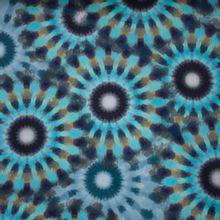 Italiaanse rekbare blauwe gesatineerde katoen van 'Alta Moda'