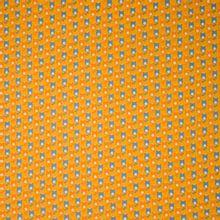 Katoen oranje tulpen motief
