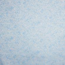 Lichtblauwe katoen met zilver krullen motief