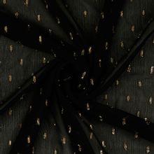 Zwarte chiffon met gouden streepjes van Milliblu's