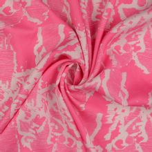 Roze Lyocell met witte silhouette van mensen van Milliblu's