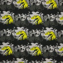 Grijze tricot met dino's 'Steinbeck Dinos'