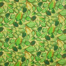 Landschap quilt met blaadjes