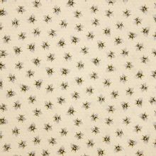 Licht gele katoen met bijenkorf motief en bijtjes
