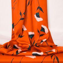 Oranje polyester met bloemen van La Maison Victor