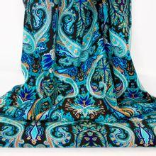 Wonderwool zuiver scheerwol zwart met blauw oosters patroon
