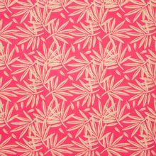 Roze katoentricot met bladeren