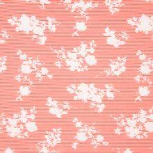 Witte katoen polyamide elasthane met rode strepen en witte bloemen van Milliblu's