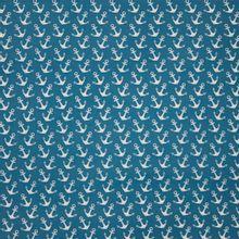 Blauwe katoen met ankers