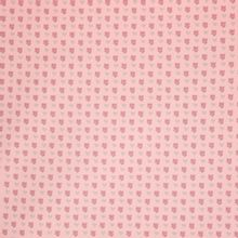 Licht roze french terry met bloemetjes en hartjes