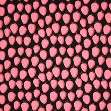 Zwarte french terry met aardbeien