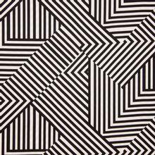 Wit zwart gestreepte polyester van Fibre Mood