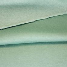 Groene sweaterstof met gewatteerde achterkant van Fibre Mood