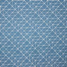 Grijsblauwe tricot met witte lijntekening