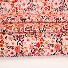 Viscose met roze bloemenprint
