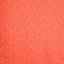 Rode/oranje polyester met groen motief