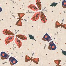 Beige katoen linnen met vinders  CLoud9 Fabrics