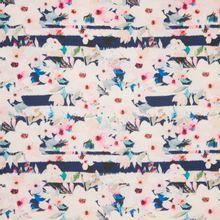 Gesatineerde polyester met bloemen