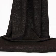 Zwarte polyester stretch met glitters