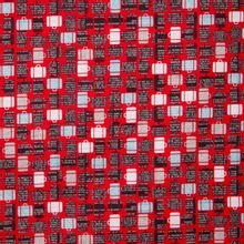 Rode katoen met koffers