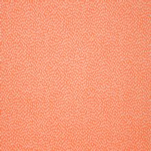 Oranje katoen met wit druppelvormig motief