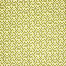Witte katoen met groen motief