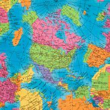 katoen met wereldkaart