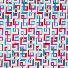 Witte katoen met gekleurde strepen