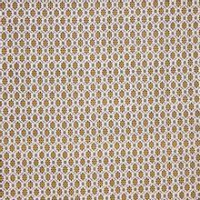 Witte katoen met bruin bloemenmotief