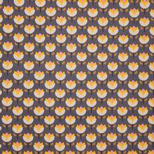 Paarse katoen met tulpen van Poppy
