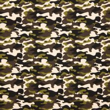 Groene camouflage tricot