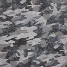 Grijze faded look camouflage french terry