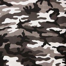 Grijze camouflage rekbare katoen