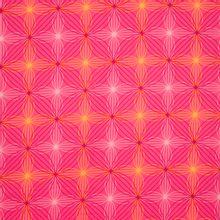 Roze katoen met print