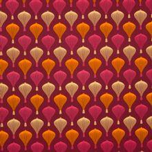 Bordeaux katoen met luchtbalonnen