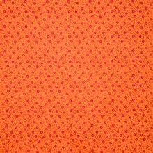 Oranje katoen met rood bloemenmotief